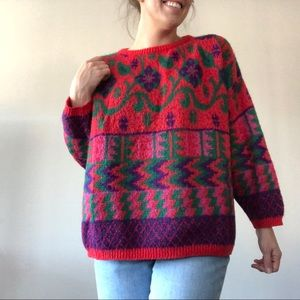 Vintage Benetton Mohair Blend Holiday Sweater